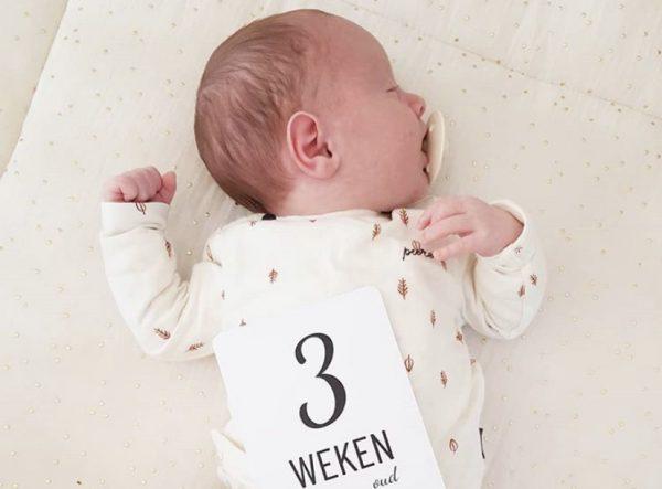 Mijlpaalkaarten Baby 3 weken