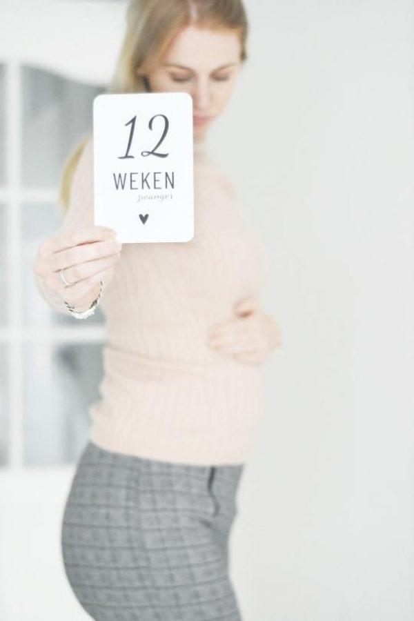 Mijlpaalkaarten zwanger 12 weken