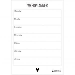 Weekplanner Lifestyle2Love