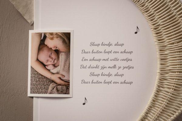 Babyboek hart gedicht