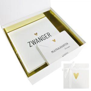 Zwanger - Mijlpaalkaarten - Cadeaubox
