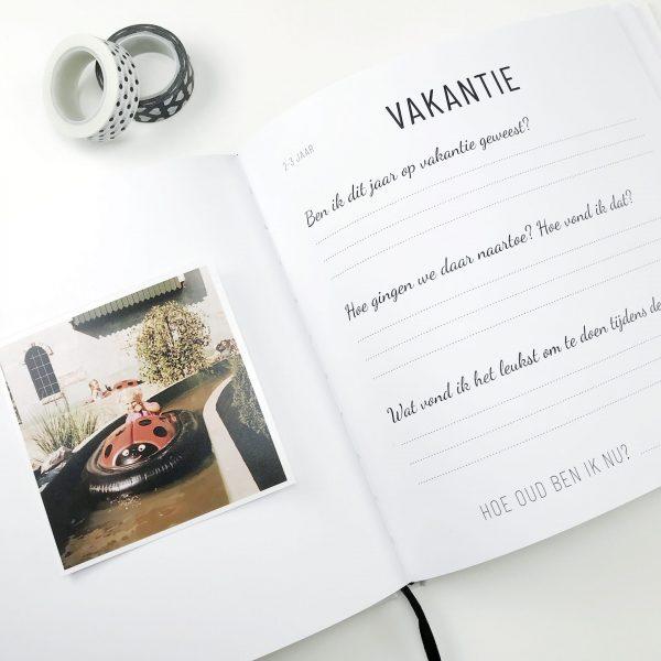 opgroeiboek vakantie pagina