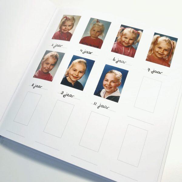 Schoolfotoboek pasfoto's