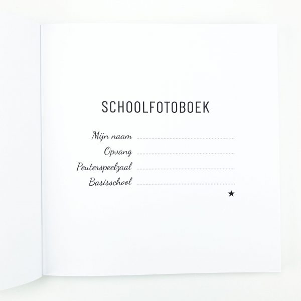 Schoolfotoboek naam